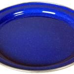 Basic Nature Emaille Teller Flach 26cm Blau Campz Ch